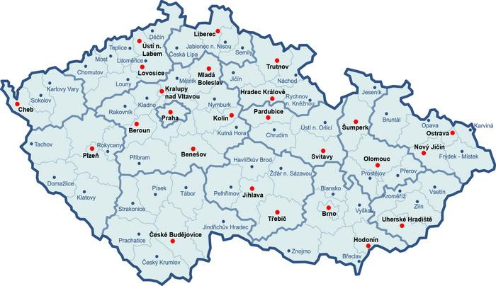 Výdejní místa po ČR
